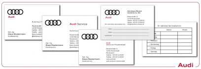 Visitenkarten und Terminkarten Audi
