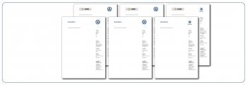Briefbogen VW - Nutzfahrzeuge - Service