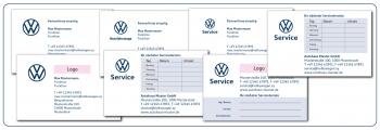 Visitenkarten und Terminkarten VW - Nutzfahrzeuge - Service