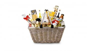 Geschenkset / Präsenteset: Geschenkkorb XL alkoholfrei & vegetarisch - Premium Einkaufskorb mit 16 leckeren Produkten