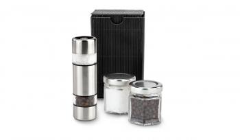 Geschenkset / Präsenteset: Salz & Pfeffer im Miniformat Schwarz
