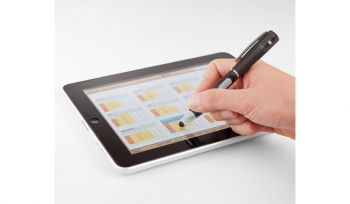 LED-Kugelschreiber Write&LED schwarz mit TouchPen