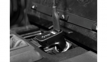 USB-Autoadapter Charge&DriveSecurityLogo schwarz