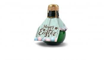 Origineller Sekt Happy Easter - Karton Rot, 125 ml