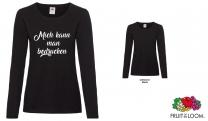 Ladies Valueweight Long Sleeve T -schwarz