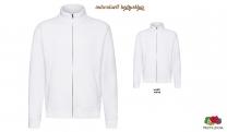 Premium Sweat Jacke Men - weiß