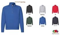Premium Zip Neck Sweat Shirt Men - farbig