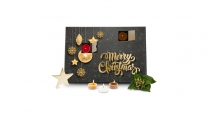 Geschenkset / Präsenteset: Duftkerzen Adventskalender Merry Christmas