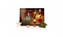 Geschenkartikel / Präsentartikel: Duftkerzen Adventskalender Kaminfeuer