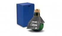 Origineller Sekt Frohe Ostern - Karton Blau, 125 ml