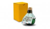 Origineller Sekt Happy Easter - Karton Gelb, 125 ml