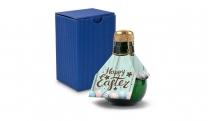 Origineller Sekt Happy Easter - Karton Blau, 125 ml
