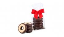 Geschenkartikel / Präsentartikel: Mini-Baumkuchen Zartbitter