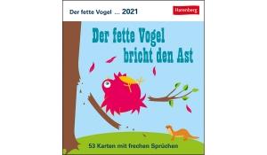 DER FETTE VOGEL POSTKARTENKALENDER 2021