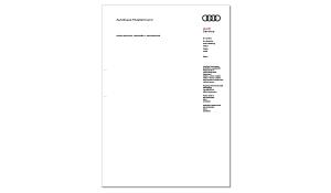 Briefbogen AUDI Service