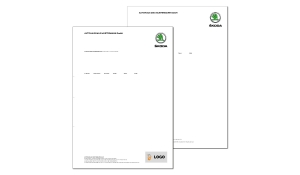 Briefbogen SKODA