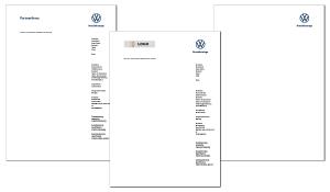 Briefbogen VW Nutzfahrzeuge