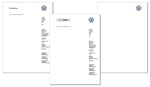Briefbogen VW Partner