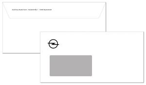Briefumschlag OPEL