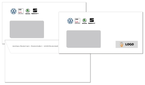 Briefumschlag VW Multi Brand