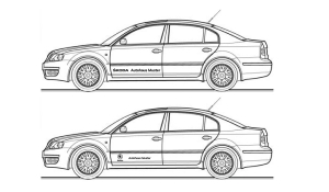 Fahrzeugbeschriftung SKODA