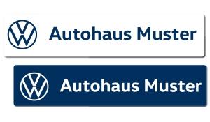 Kennzeicheneinleger VW mit individuellem Schriftzug