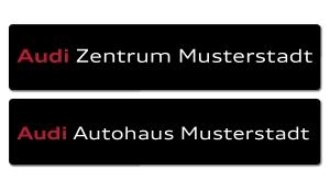 Kennzeicheneinleger Audi mit individuellem Schriftzug