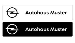 Kennzeicheneinleger Opel mit individuellem Schriftzug