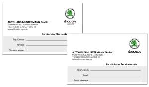Terminkarte Skoda
