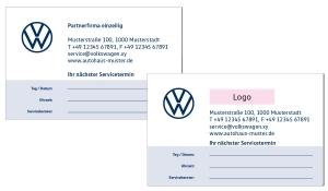 Terminkarten 1 VW Partner