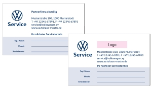Terminkarten 1 VW Service