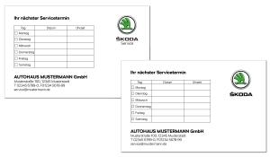Terminkarte Skoda 2