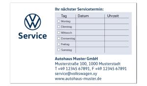 Terminkarten 2 VW Service