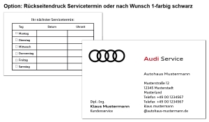 Visitenkarten AUDI Service