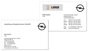 Visitenkarten OPEL