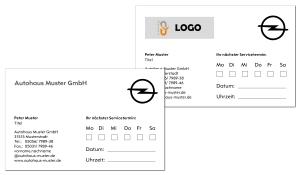 Terminkarte Opel