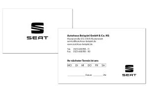 Terminkarte SEAT 3