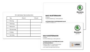 Visitenkarten SKODA Service
