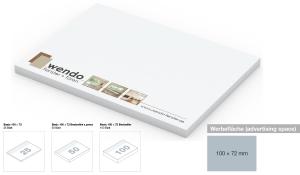 Haftnotizblock Basic 100 x 72 mm Bestseller