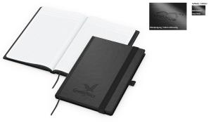 Notizbuch Black-Book inklusive Blindprägung