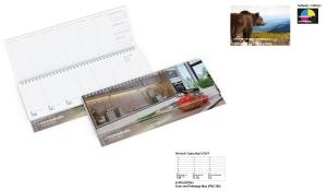 Tischquerkalender 2021 Compact Karton