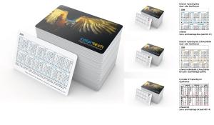 Scheckkartenkalender 2021 Credit 2021