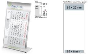 4-Monatskalender 2021 Desktop 4 Steel