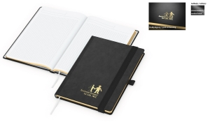 Notizbuch Gold-Book Tivoli-Soft inklusive Goldprägung