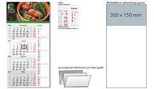 4-Monatskalender 2021 Konzept 4 Post