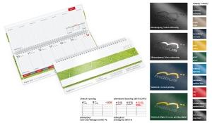 Tischquerkalender 2021 Tempo Register
