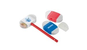 Bleistiftspitzer mit Radiergummi 8702