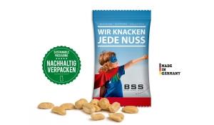 Geröstete Erdnüsse im Werbetütchen