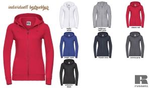 Damen Authentic Zipped Hood Jacke