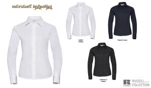Klassische Twill Bluse Ladies - Langarm